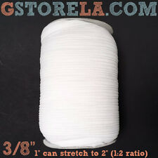 1 Roll Knitted Elastic 3/8 inch~144 yards spool~50,100 WHITE/BLACK knit 9.5mm