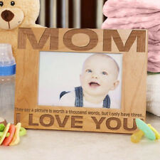 Personalized Mom I Love You Picture Frame Three Little Words Photo Frame for Mom