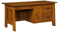 Amish Computer Desk Solid Wood Wooden Small Mission Home Office Furniture File