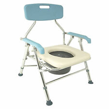 Folding Commode Chair Mobility Disability Living Toilet Aid