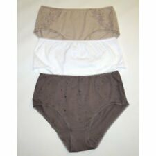 Womens Cotton Knickers Guipure Lace White Midi Briefs/Knickers/Pants Sizes 8 10