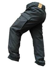 Black Moleskin Combat trousers Stone washed ~ New German Military Style Trouser