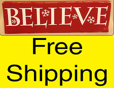 BELIEVE wall vinyl sticker home decor inspirational art christmas holiday quotes