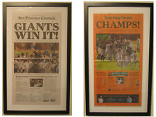 Framed 2010 San Francisco Giants World Series Champions Newspaper - SF Chronicle