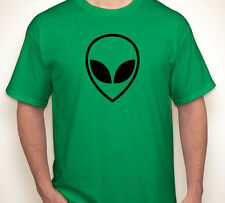 ALIEN HEAD outer space/ufo invaders geek/gamer nerd/science green T-shirt S-5XL