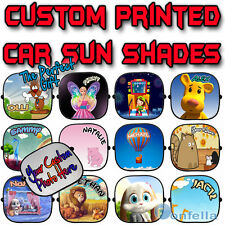 NEW - Personalised Children baby Car Sun Shade Window kid Screen full colour x 1