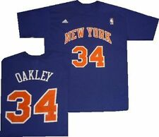 New York Knicks Charles Oakley Throwback Adidas T Shirt