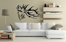 Wall Art sticker decal vinyl - Stags Head - Side View