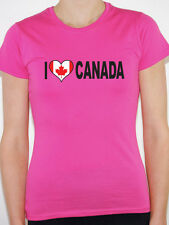 I LOVE CANADA WITH CANADIAN FLAG IN A HEART SHAPE International Womens T-Shirt