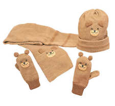 Kidorable Bear Knit Mittens, Hat and Scarf Set