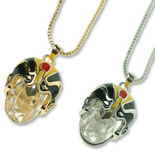 Silver Gold Plated Pendant Chain Necklace,Chinese Mask Jewellery Gift Under £25