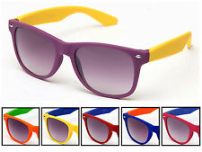 Two Toned Sunglasses Rubber Coated Matte Soft Feeling Sports Team Retro 70s 80s