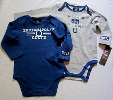 Indianapolis Colts Baby Infant Creeper Bodysuit 2 Pack 0/3M, 3/6M, 6/12M,18M NWT