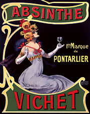 209.Art Decorative POSTER.Graphics to decorate home office.Absinthe Vichet Ad.