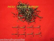 100 ASL Treble Hooks Bronze Barbed  for Sea / Pike Fishing Lures etc ASL6985