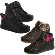 WOMENS HI HIGH TOPS TRAINERS LADIES GIRLS ANKLE BASEBALL SCHOOL BOOTS SHOES SIZE