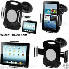 360 Degree Universal Car Windscreen Suction Mount Holder 4 Tablets 10 To 20.5cm
