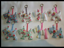 Cath Kidston Fabric Scottie Dog Dried Lavender Key Ring Bag Charm Car Charm