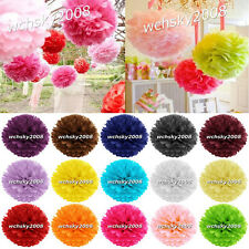 New Tissue Paper Pom Poms Flowers Wedding Birthday Party Decorations Many Colors