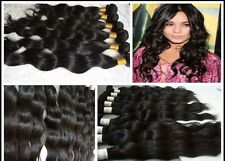 CLIP IN THICK REMY WAVY HUMAN  HAIR EXTENSIONS ALL LENGTHS COLOR #2 180 GRAMS