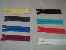 lot of 6 Pieces, Small Zipper Pick your Color from 9 Different colors. Box#4