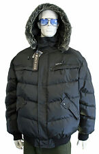 Scott & fox puffer ski bomber quilted lining jacket with fur hood
