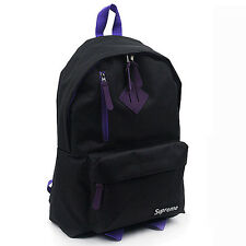 Mens Supreme backpack Bookbag School bag Casual College Black Red Navy kpop