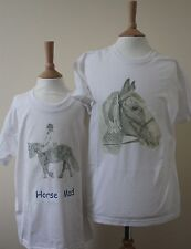 Horse T-Shirts Baby, Children's and Adult Sizes - 6 different designs