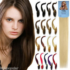 "Pre Bonded Kertain U Nail Tipped Remy Human Hair Extensions 16""-26"" 100S AAAAAAA"