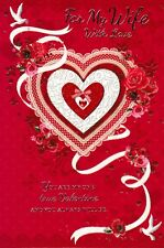 FOR MY WIFE TRADITIONAL VALENTINES DAY CARD VALENTINE'S - 6 CARDS TO CHOOSE FROM