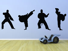 Martial Arts/Karate/Kung Fu - x 4 Fighters Wall Art Mural/Transfer - Silhouttes
