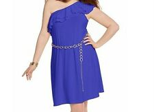 ladies women's summer washable vacation evening party ruffled dress plus size 2X