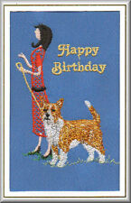 Portuguese Podengo Birthday Card Embroidered  by Dogmania
