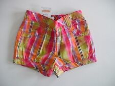 NWT GYMBOREE PRETTY POSIES PLAID  SHORTS SUMMER