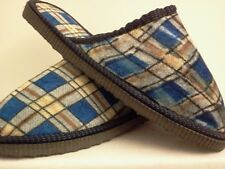 PLAID LIGHT BLUE HOUSE SHOES SLIPPERS FREE SHIPPING MEN OR WOMEN SIZE 5 THRU 10