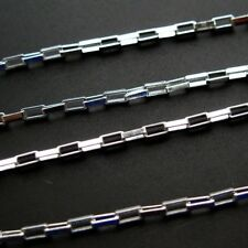 Sterling Silver Box Chain 3mm Unfinished Bulk Lots By The Foot 925 Italy