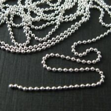 Solid 925 Sterling Silver Ball Chain-1.2mm Ball Chains -Unfinished Bulk Chain