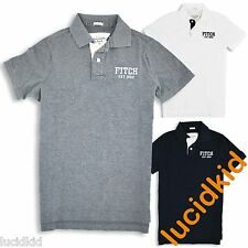 """NWT ABERCROMBIE & FITCH POLO SHIRT """"ALLEN BROOK"""" Mens Navy Blue White Gray"""
