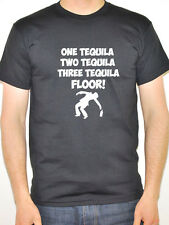 ONE TEQUILA TWO TEQUILA -  Humorous / Drink / Drinking / Fun Themed Mens T-Shirt