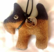 SCOTTIE DOG  Bag Charm Car Charm Key Ring Tweed Wool Tartan Denim Wedding favour