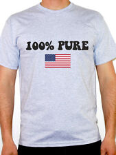 100% PURE AMERICAN - USA / American / Stars and Stripe / Fun Themed Mens T-Shirt
