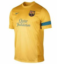 Nike FC Barcelona Official 2012-13 Soccer Training Jersey Brand New Yellow- Teal
