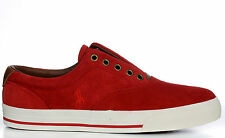 Polo Ralph Lauren Men's Lace Less Fashion Sneakers Vito Red Authentic New