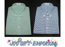 Mens Shirt SHORT SLEEVE - Pure Cotton - ex faMouS UK store - GOOD QUALITY *NEW*
