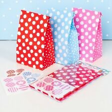 Red Pink Blue Polka Dot Spotty Treat Paper Party Bags