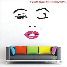 Sexy Marilyn Monroe Wall Art Stickers, Marilyn Monroe Quotes Wall Decal --PD118