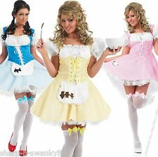 Ladies Dorothy or Bo Peep Halloween Fancy Dress Costume Outfit 8-26 Plus Size