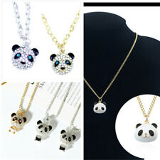 Super cute crystal panda necklace multiple choices