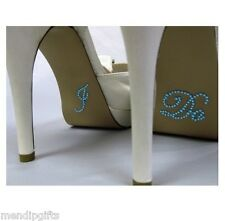 'I DO' CRYSTAL SHOE STICKERS SOMETHING BLUE HEN PARTY WEDDING ACCESSORIES FAVOUR