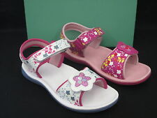 CLARKS GIRLS LEATHER SUMMER SANDAL 'TANDY QUEEN' PINK OR WHITE LEATHER